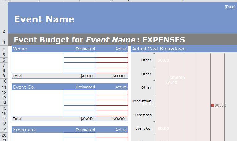 Sample Event Budget New Calendar Template Site FksTZgns